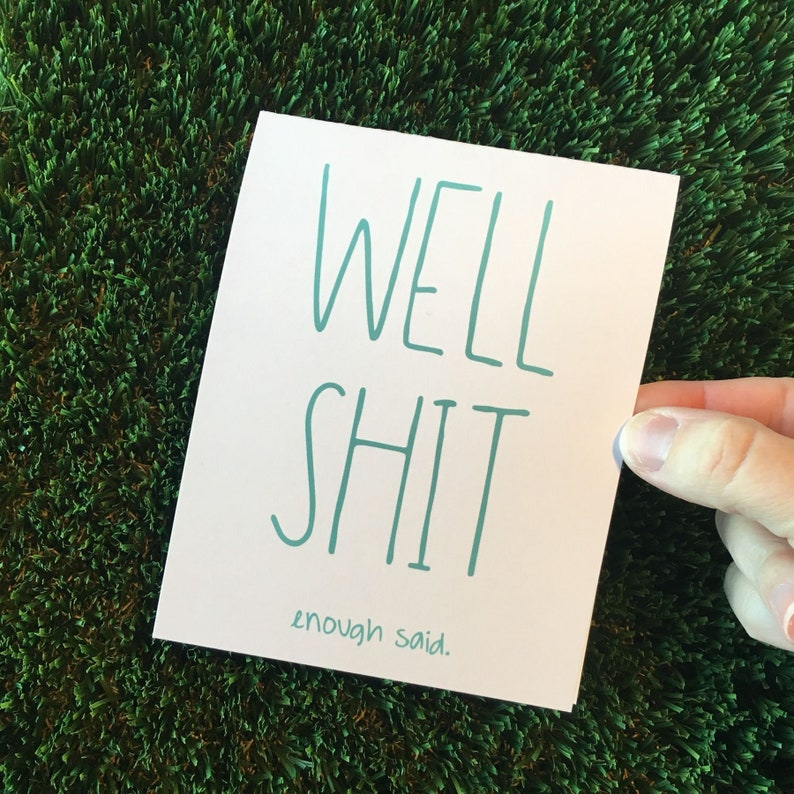 Shit Card / I'm sorry Card / Funny thinking of you card / image 0