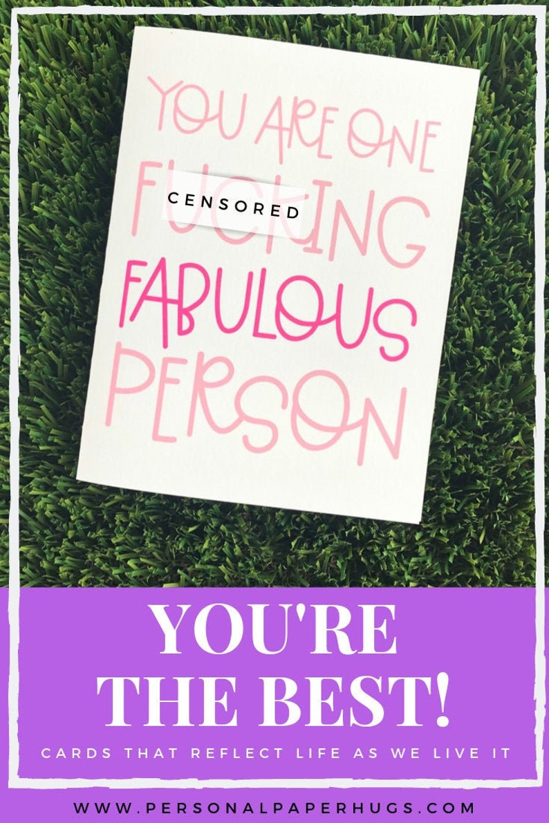 Funny Sarcastic Friendship Thank You Card for Best Friend BFF image 0