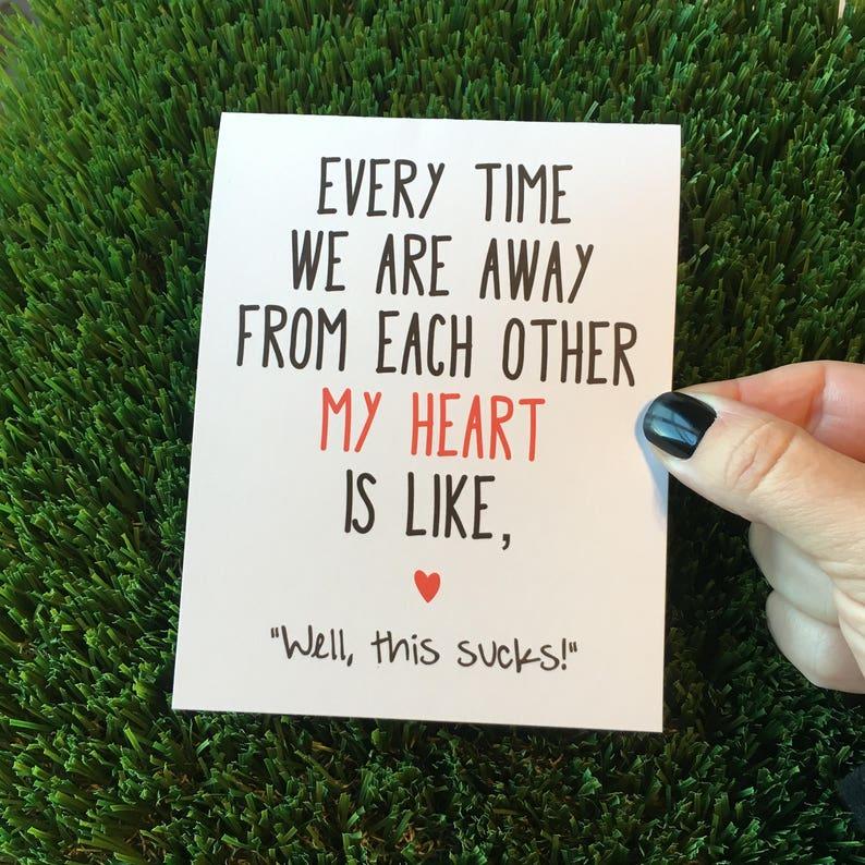 Long Distance Relationship card / Funny Relationship Card / I image 0
