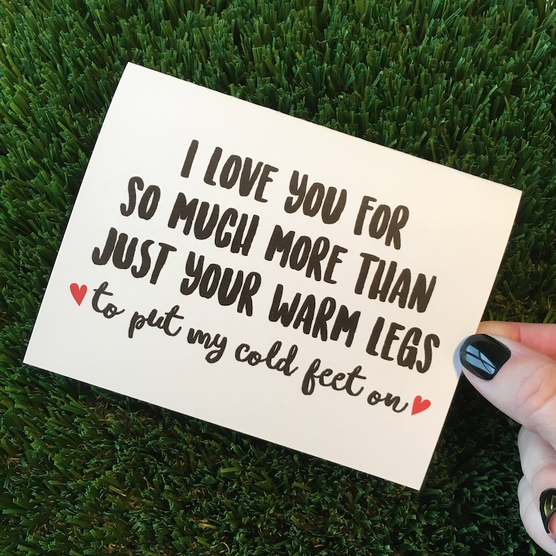 Funny I Love you Card / Funny Relationship Card / LDR Card / image 0