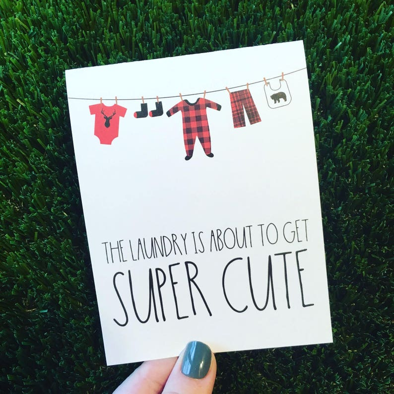 Cute Baby Shower Card  Lumberjack Baby Card  Card for Baby image 0