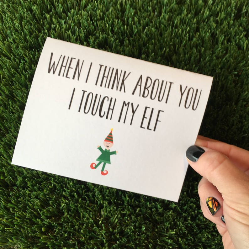 Funny Elf Card / Funny Holiday Card / Funny Christmas Card / image 0