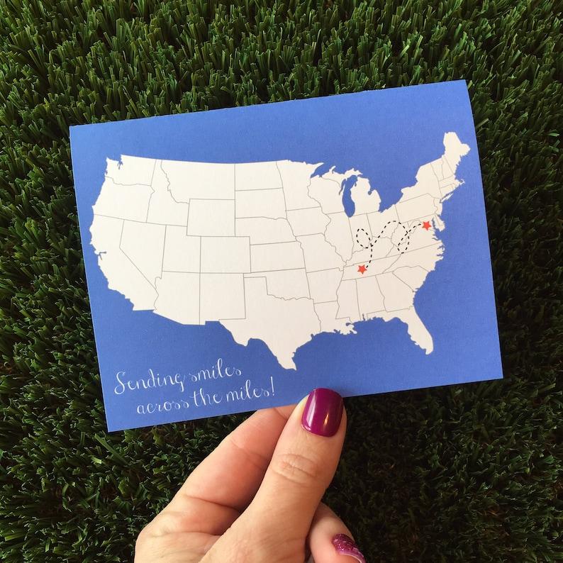 LDR Card Long Distance Relationship Card Missing You Card I image 0