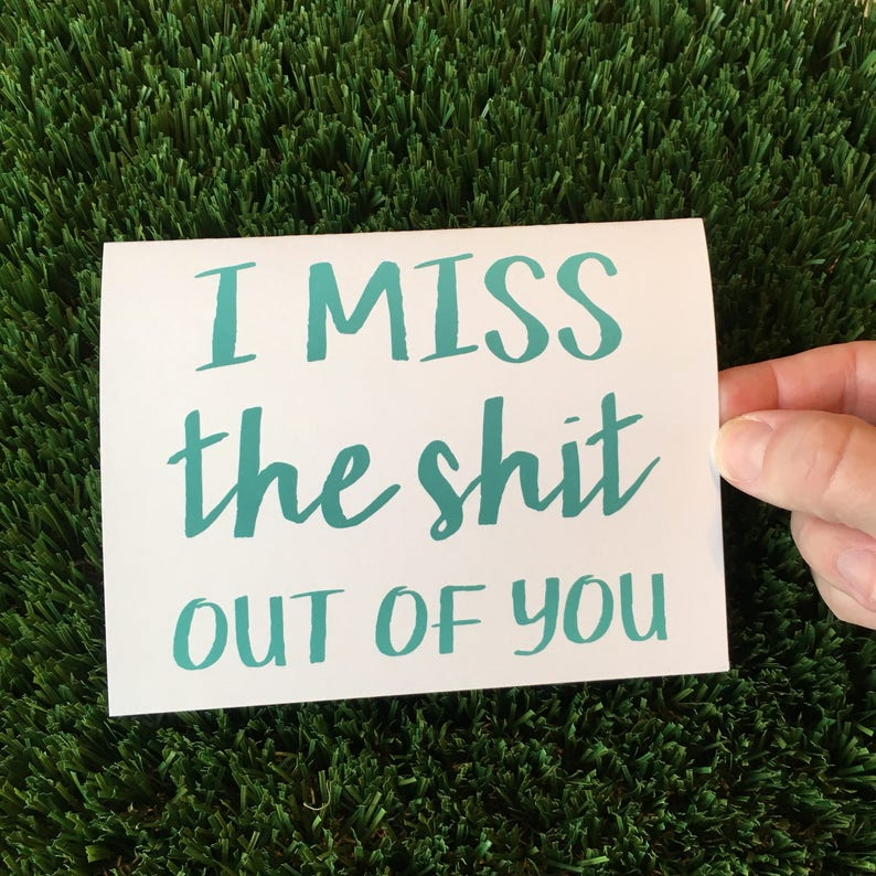 I miss you card  Long distance Relationship card  I love you image 0