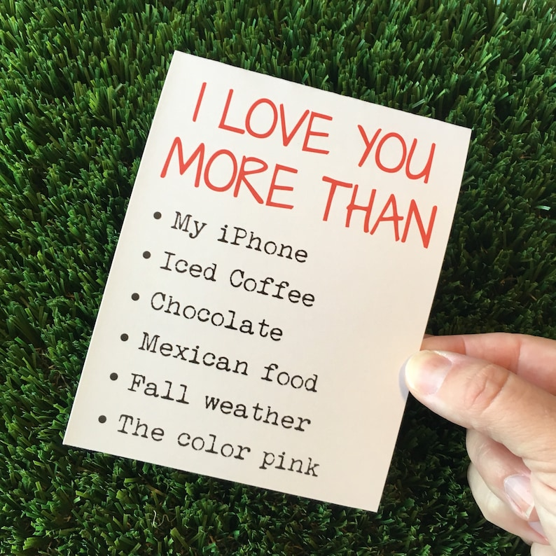 I love you card / I love you more than card / Funny image 0