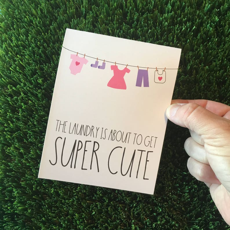 Baby Shower Card  Card for new mom  Card for Baby Shower  image 0