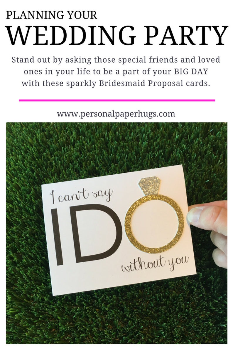Will you be my Bridesmaid Card for Bridesmaid / I can't image 0
