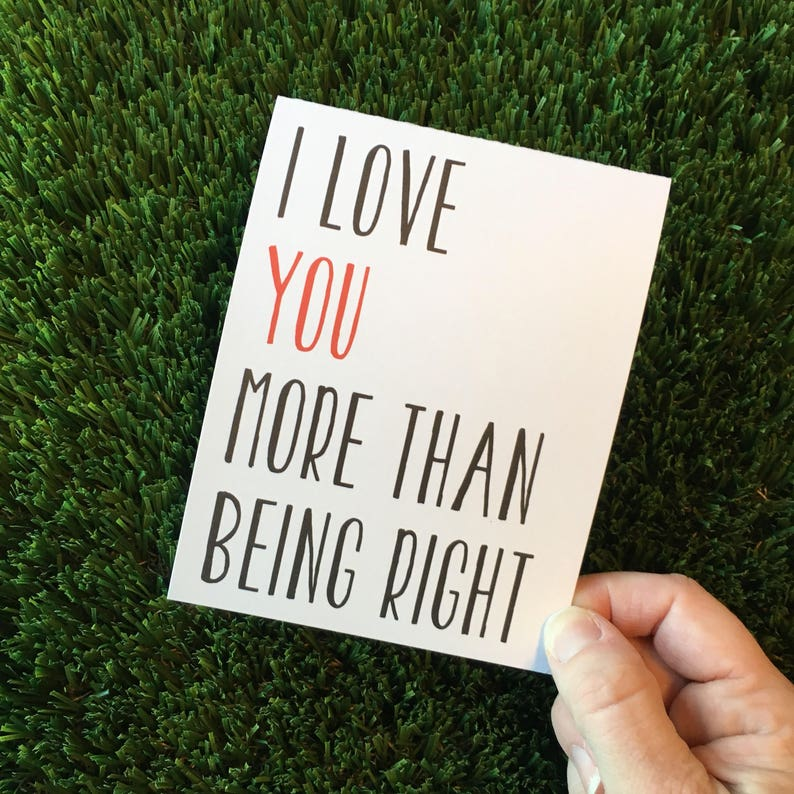 Funny I love you card / Funny relationship card / funny dating image 0