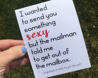 Funny Long Distance Relationship Card / Long distance relationship card / ldr card / sexy card / deployment card / funny valentine card