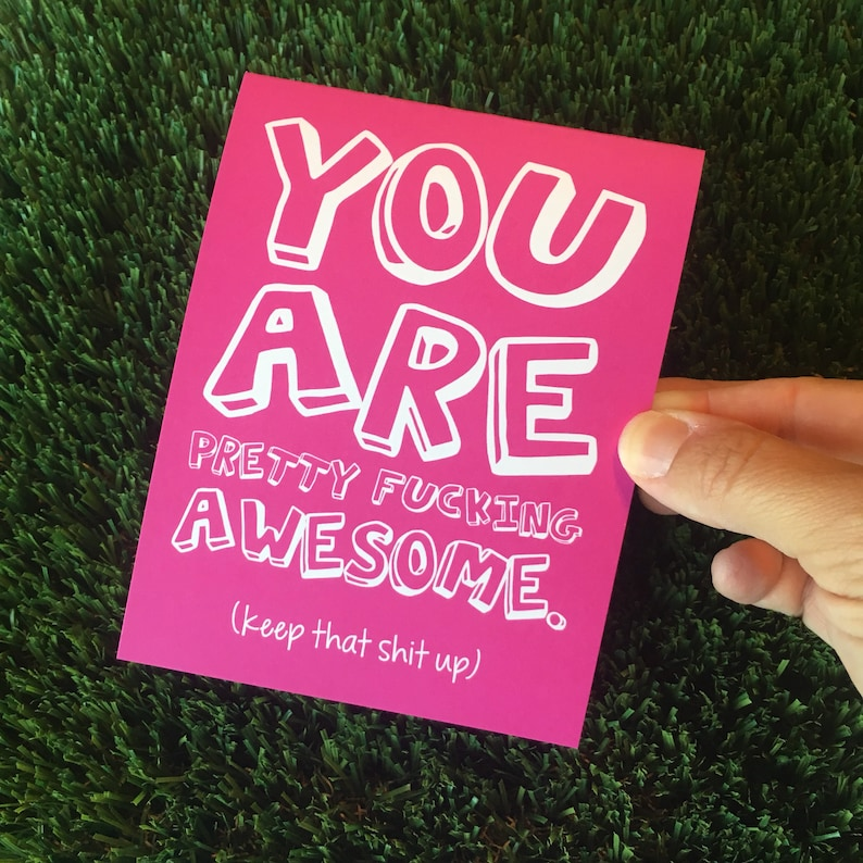 You Are Awesome card / Awesome card / Funny Friendship Card / image 0