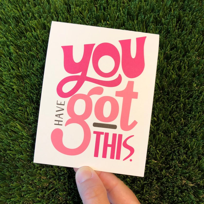 You Got This Pink Friendship Card Cancer Support Card Cancer image 0
