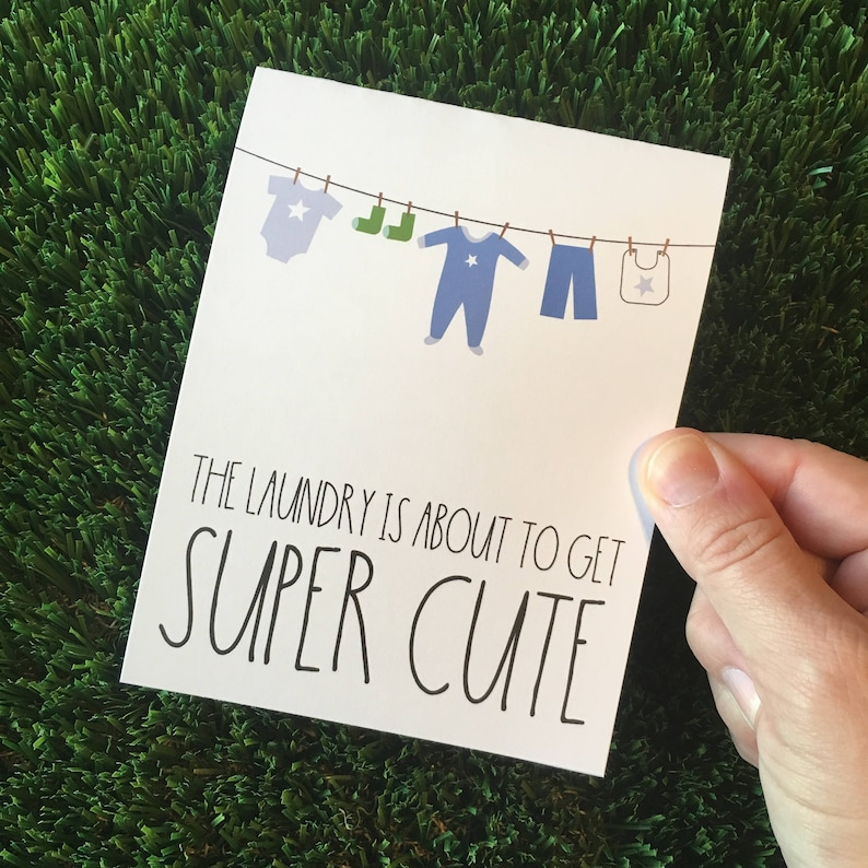 Cute Baby Shower Card  Card for baby boy  Card for Baby image 0
