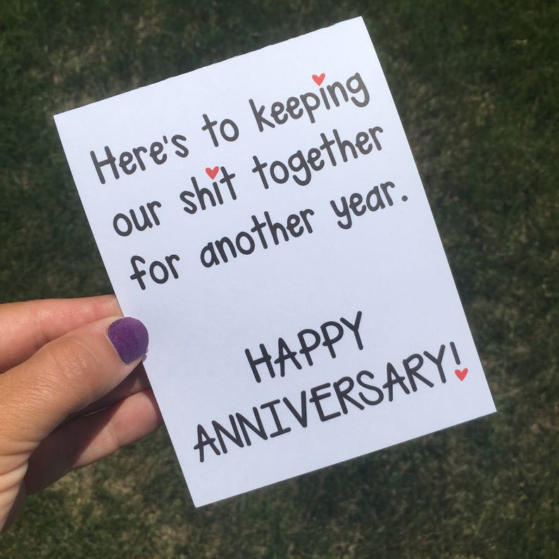 Funny Relationship Card  Funny Anniversary Card  Funny image 0