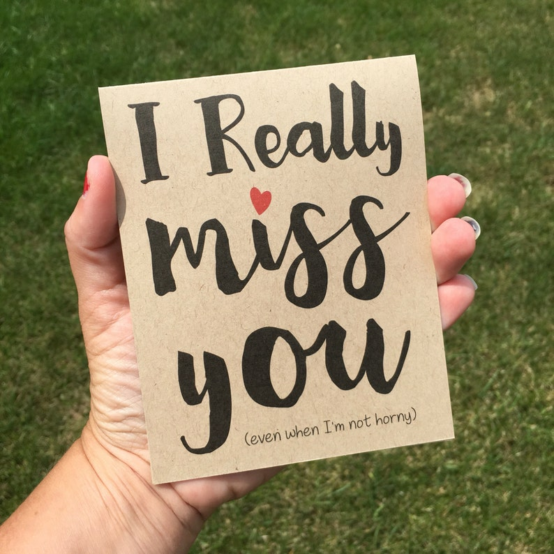 I really miss you  I miss you card  Funny I miss you card  image 0