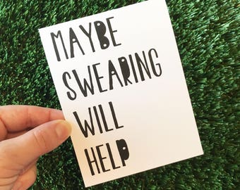 Funny card - Funny Friendship card - Funny card for friend - funny get well card - this sucks card - funny thinking of you card - I'm sorry