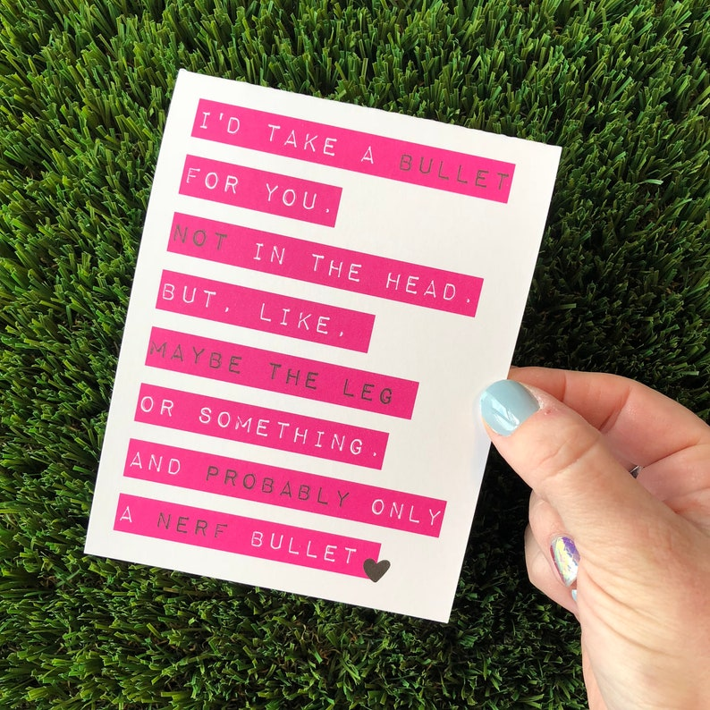 Funny Friendship Card for Friend Sarcastic Cards Rude Cards image 0