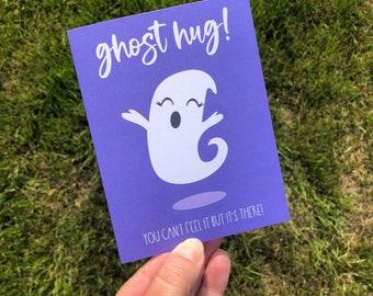 Funny Ghost Hug Social Distance Quarantine Greeting Card for Halloween