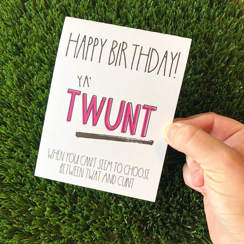 funny rude sarcastic birthday greeting card for friend