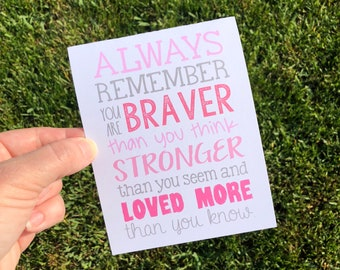 Cancer Support Card / Chemo Card / Breast Cancer Card / Cancer Encouragement Card / Hang in there card / cancer card woman / cancer patient