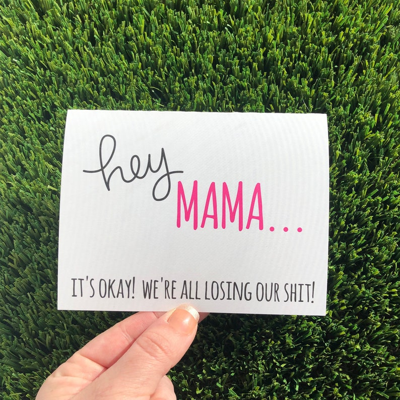 Funny Greeting Card for Mom Tribe Friend or New Mom image 0