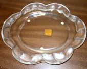 A Rare Lalique Molded and Frosted Glass Koi Fish Rim Dish, Width 10 3 4