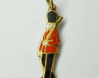 Sterling Silver 3D British Royal Queens Life Guard Soldier Nutcracker Military Travel Charm