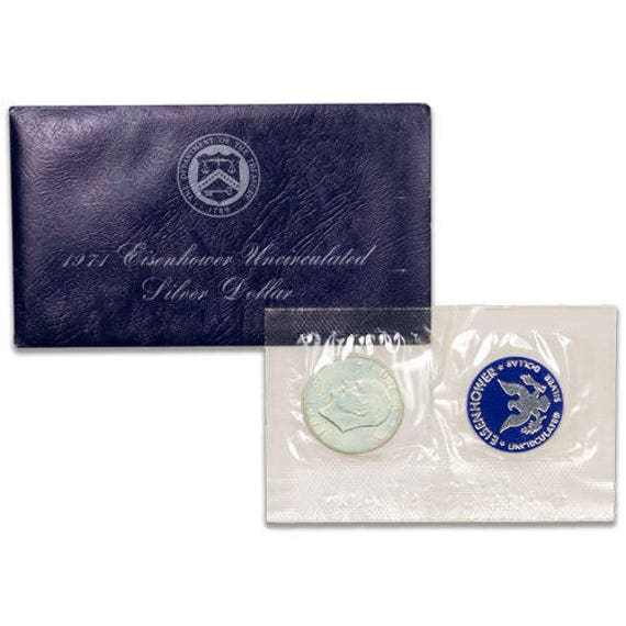 1972 S Eisenhower BU Blue Pack 40/% Silver Ike Dollar US Coin