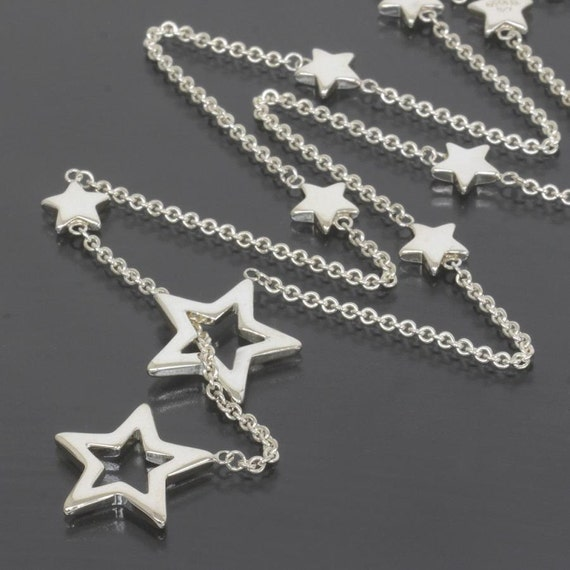 d780576772302 Tiffany & Co Sterling Silver Star Lariat Necklace