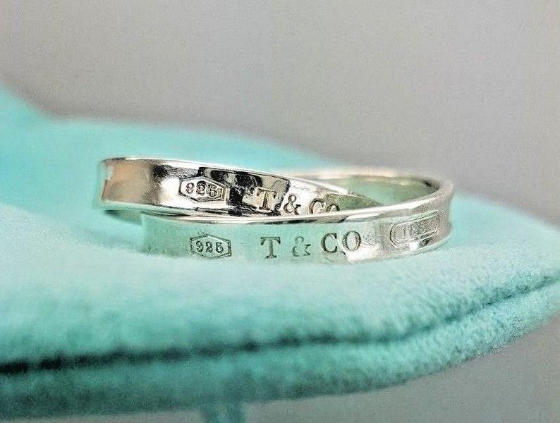 ae2fae6ff Tiffany & Co. Sterling Silver 1837 Interlocking Circles Double | Etsy