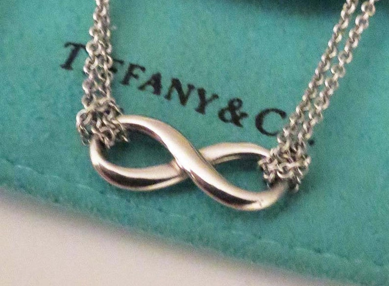 7ac1807ae Tiffany Sterling Infinity Pendant Double Strand Necklace 16 In | Etsy