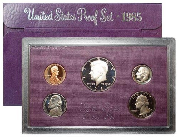 1987-S United States Mint Proof Set With Box And COA