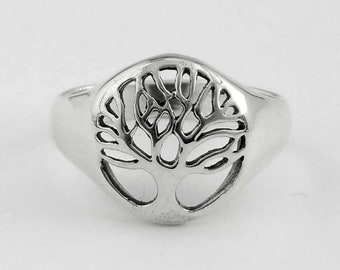 Sterling Silver Tree of Life Ring Size 7