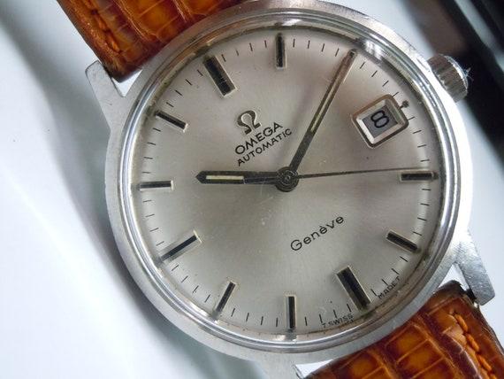 Omega Geneve Cal 565 Raro Uomo Svizzero Fatto Automatico Vintage Orologio Circa 1969