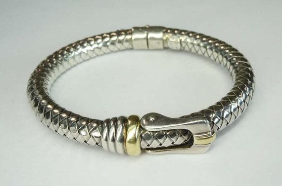 2d3a9b9bc Italian 18kt Gold Sterling Silver Alisa Belt Buckle Basket | Etsy