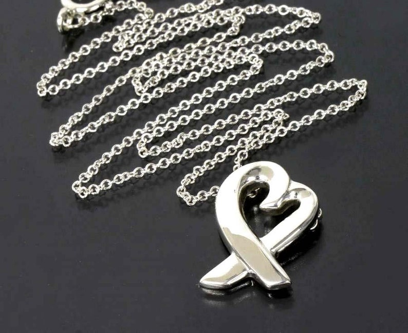 4fb94fa71 Tiffany Paloma Picasso Loving Heart Pendant Necklace Sterling | Etsy