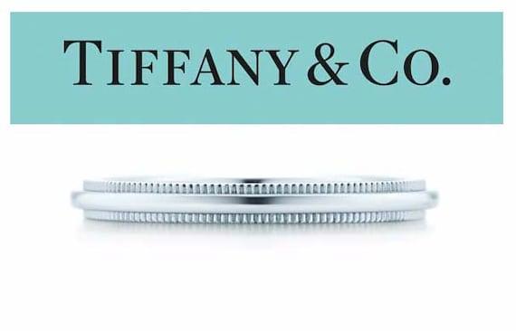 4a279a0ab Ladys Platinum Tiffany Dome Milgrain Wedding Band Ring 2mm Sz | Etsy