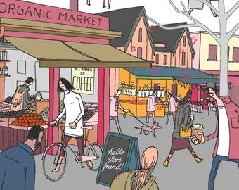 Kensington Market, second edition giclee print