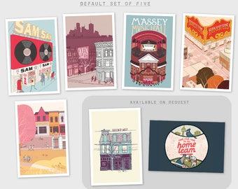 Toronto Postcards [set of five]