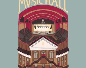 Massey Hall, first edition giclee print
