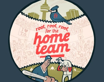 Root, root, root for the home team, first edition giclee print