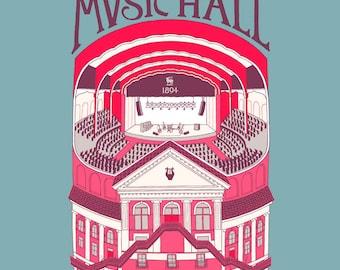 SALE! Massey Hall, variant edition, giclee print