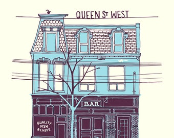 Queen West Chip Shop, second edition giclee print