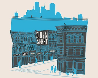 SALE! Queen and Portland, first edition screen print