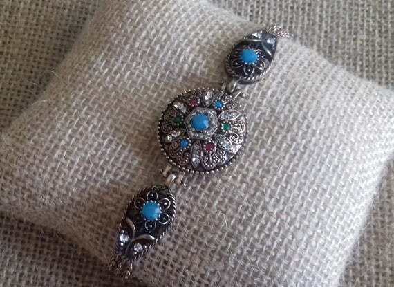 Vintage Antiques Multi color Crystals Byzantium Or