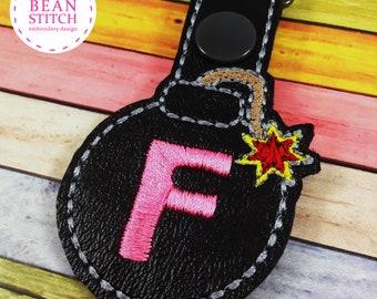 F Bomb - Two Sizes and BONUS Multis!  Embroidery Machine Download Design File