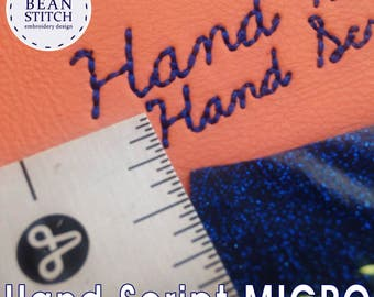 Embroidery Machine Download Design File - Hand Script MICRO FONT!!! Three Sizes included!  Mini Font Small Font Micro Font
