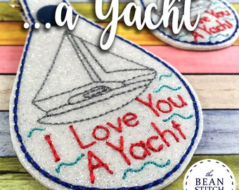 a Yacht - TWO Sizes and BONUS Multis Included!!! - Two Sizes and BONUS Multis!  Embroidery Machine Download Design File