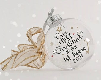 Our First Christmas in our 1st home 2021 Bauble, 1st Home Gift, New Home Gift, Christmas Bauble