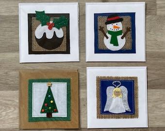 Handmade Christmas Cards, Christmas Pudding, Angel Cards