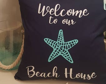 Welcome to Our Beach House Pillow